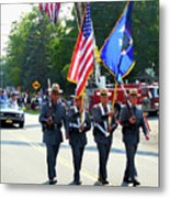 New York State Police Color Guard  5 Metal Print