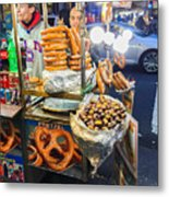 New York Street Vendor Metal Print