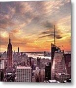 New York Sunset Metal Print