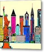 New York - The Big City Metal Print