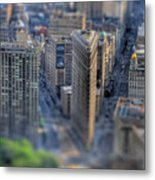 New York Toy Story - Flatiron Building Metal Print