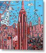 New York Urban Colors 2 Metal Print