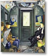 New Yorker Magazine Cover Of A Man Sleeping Metal Print