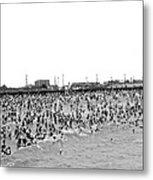 New Yorkers At Coney Island. Metal Print