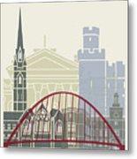 Newcastle Skyline Poster Metal Print