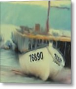 Newfoundland Fishing Port Impressions Metal Print