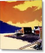 Newfoundland Fishing Shacks Metal Print