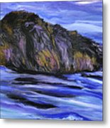 Newfoundland Oil Painting Metal Print