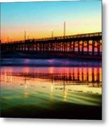 Newport Beach Pier At Sunrise Metal Print