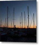 Newport Harbor Rhode Island Boats At Sunset Metal Print
