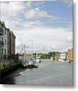 Newport Harbour Iow Metal Print
