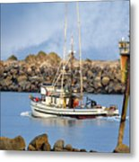 Newport Oregon - Coastal Fishing Metal Print