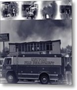 Newport Oregon Fire Department Drill - Practice Fire Drills Metal Print