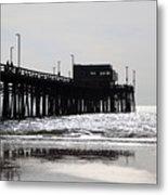 Newport Pier Metal Print