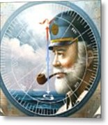 News  Map Captain  Or  Sea Captain Metal Print