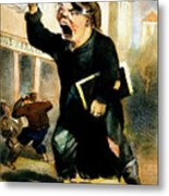 Newsboy Shouting, 1847 Metal Print
