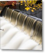 Newton Upper Falls Autumn Waterfall Metal Print