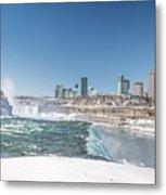 Niagara And Canada Metal Print