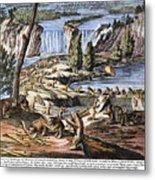Niagara Falls: Beavers, 1715 Metal Print