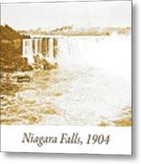 Niagara Falls Ferry Boat, 1904, Vintage Photograph Metal Print