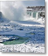 Niagara Falls Frozen  II Metal Print