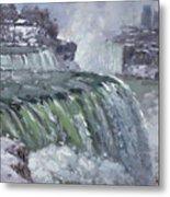 Niagara Falls In Winter  Metal Print