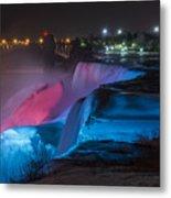 Niagara Falls Light Show Metal Print