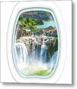 Niagara Falls Porthole Windows Metal Print