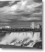 Niagara Falls - The American Side 3 Bw Metal Print