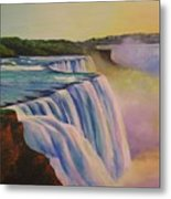 Niagara Sunset Metal Print