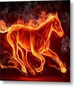 Nice Horse 3d Metal Print