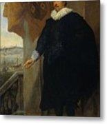 Nicolaes Van Der Borght, Merchant Of Antwerp Metal Print