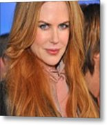 Nicole Kidman At Arrivals For Just Go Metal Print