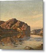 Nielsen, Amaldus Clarin 1838-1932 Morning, Ny-hellesund 1909 Metal Print