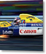 Nigel Mansell Williams Fw14b Metal Print by David Kyte