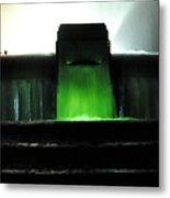Night At Mulholland Fountain Metal Print