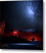 Night At Pirate's Lagoon Metal Print