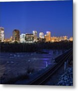 Night At The Floodwall 2 Metal Print