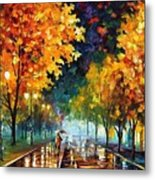Night Autumn Park  Metal Print