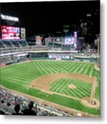Night Baseball In Minneapolis Metal Print