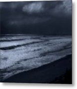 Night Beach - Jersey Shore Metal Print