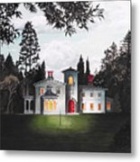 Italian House Country House Detail From Night Bridge  Metal Print