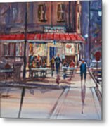 Night Cafe Metal Print
