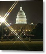 Night Capitol Metal Print