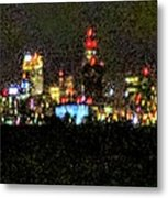 Night Cleveland Metal Print