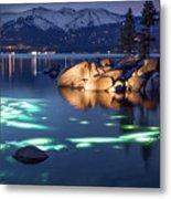 Night Dive - Lake Tahoe Metal Print