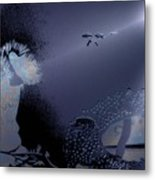 Night Dive Metal Print