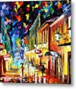 Night Etude - Palette Knife Oil Painting On Canvas By Leonid Afremov Metal Print