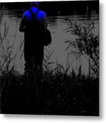 Night Fisherman Metal Print