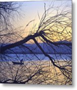 Night Fishing In Barr Lake Colorado Metal Print